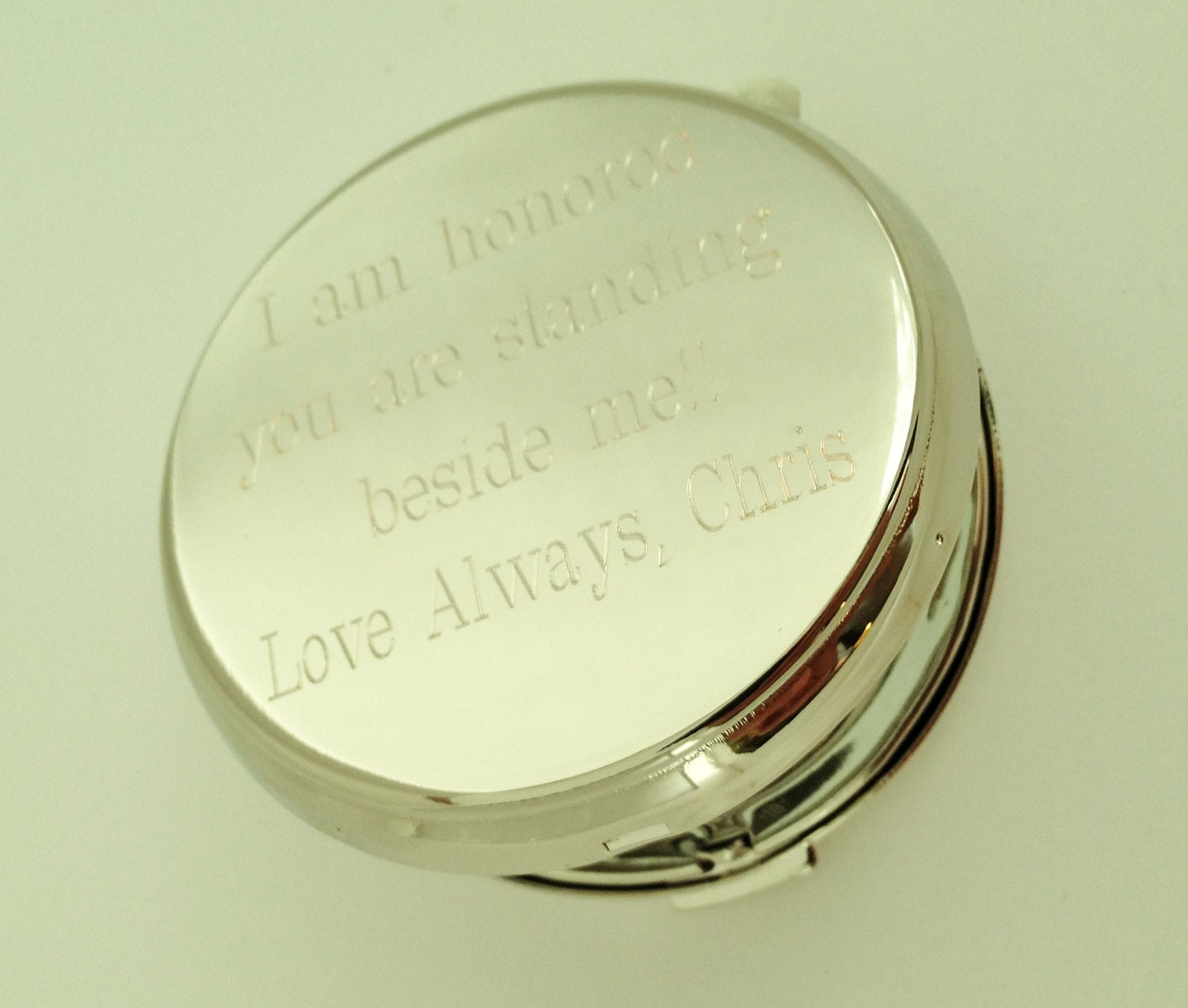 personalized compact mirror engraved for by netexchange on etsy