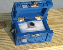 TARDIS Inspired Small Painted Blue Box