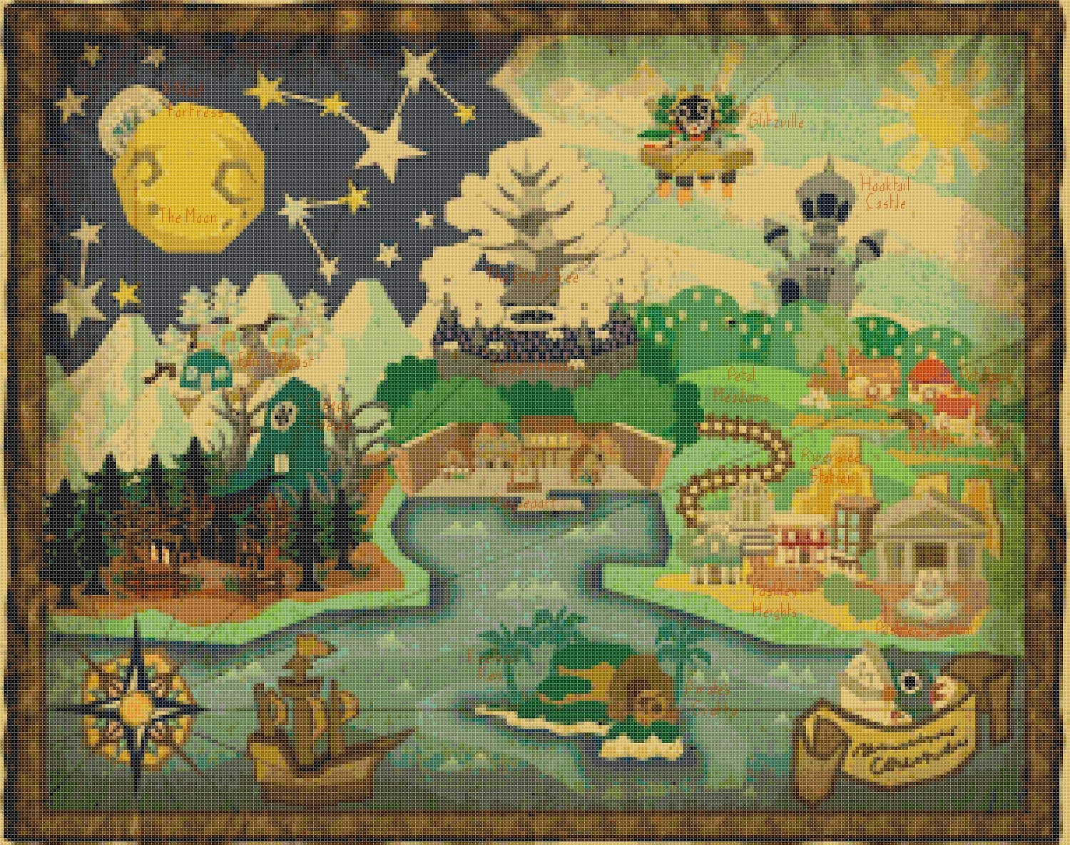Paper mario the thousand year door world map by servostitches for 1000 year door