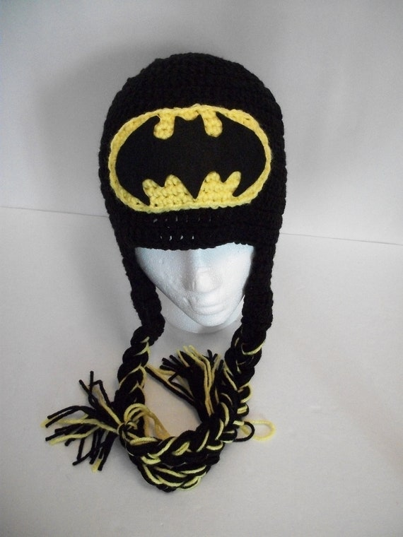 Free Crochet Pattern For Batman Hat : Baby/Toddler/Child Crochet Batman Hat/Beanie by KiarasHandmade