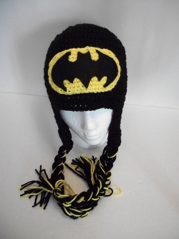 Baby Toddler Child Crochet Batman Hat Beanie By Kiarashandmade