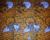 BY THE YARD delightful yellow and white flower design african wax print  fabric - high quality angel wax