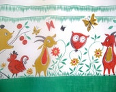 Vintage 50's Critter Fabric - Owls, Goats, Birds, Bears