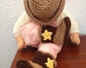 crochet cowboy hat & boots