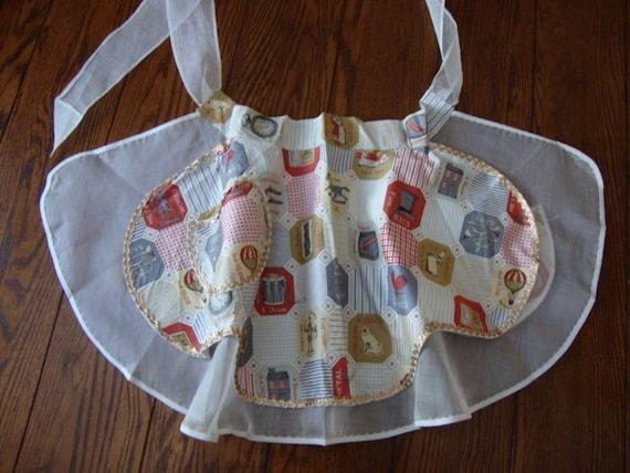 Apron Reversible 1960's Unique half apron