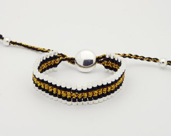 Link Friendship Bracelet - Black Gold Strips - (One Direction)