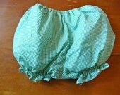SALE Vintage Green Gingham Diaper Cover (6-9 months)