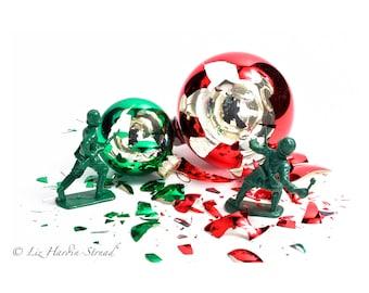 Funny Christmas Gift - War On Xmas Photo #2 of 5, Christmas Decor, Christmas Art, Christmas Photo, White Elephant Gift, Gag Gift