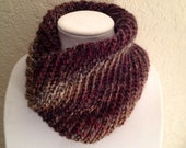 Colorful Grays and Reds Warm and Cozy Cowl