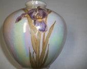 Luster ware Vase with Iris Pattern
