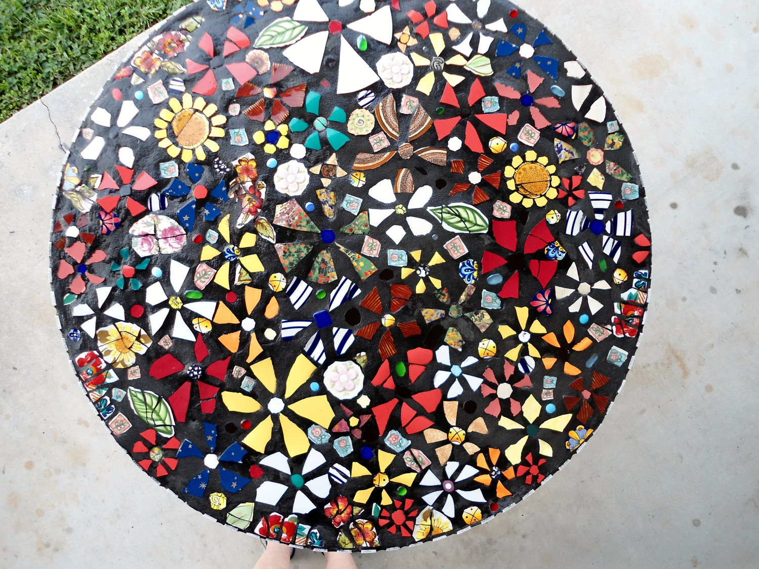 SOLD 36 Piece Made MOSAIC TABLE Top Direct By JustAboutYou