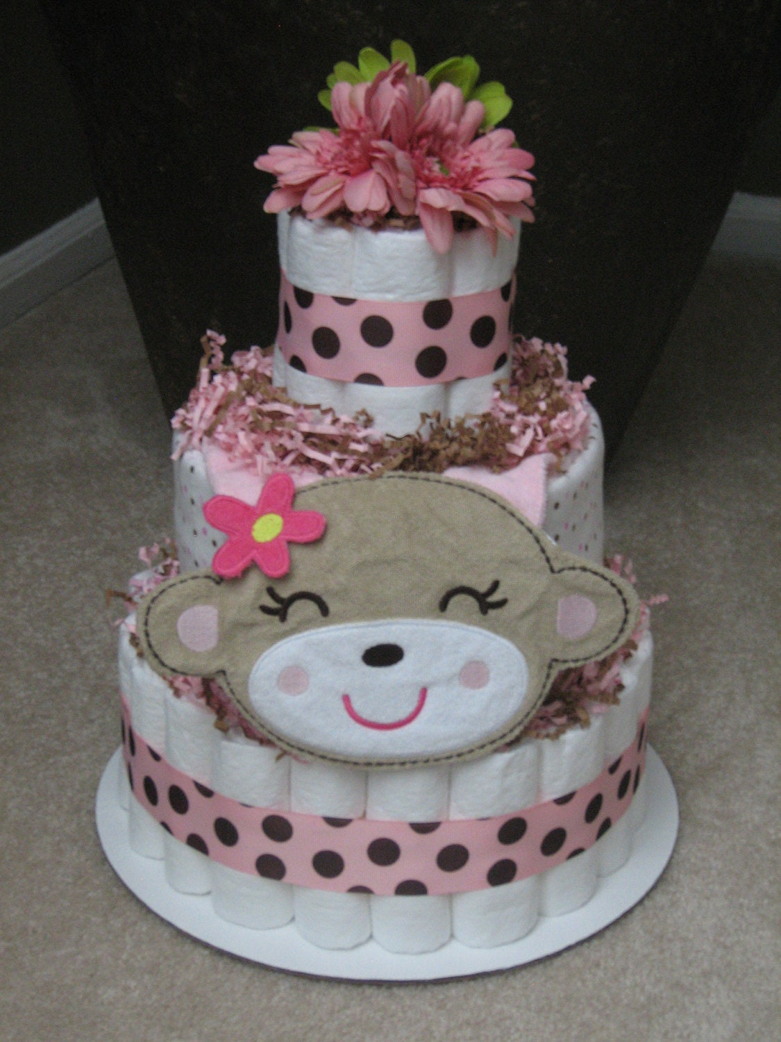 Diaper Cake Centerpiece For Baby Shower : Kitchen & Dining