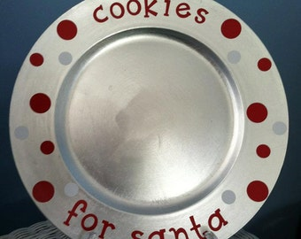 CLEARANCE Cookies for Santa Charger Plate
