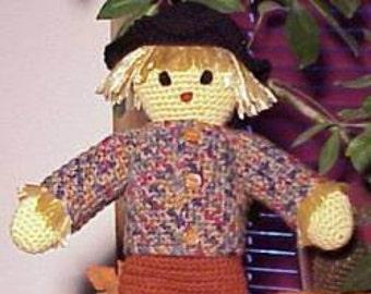 CROCHET PATTERN Sammy SCARECROW Doll Home Decor Fall Autumn
