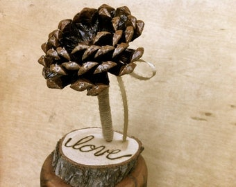 Wedding Guest Book Pen With Holder Rustic Wedding Accessories Decoration Pine Cone Weddings
