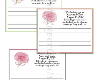 Personalized Bridal Shower advice cards