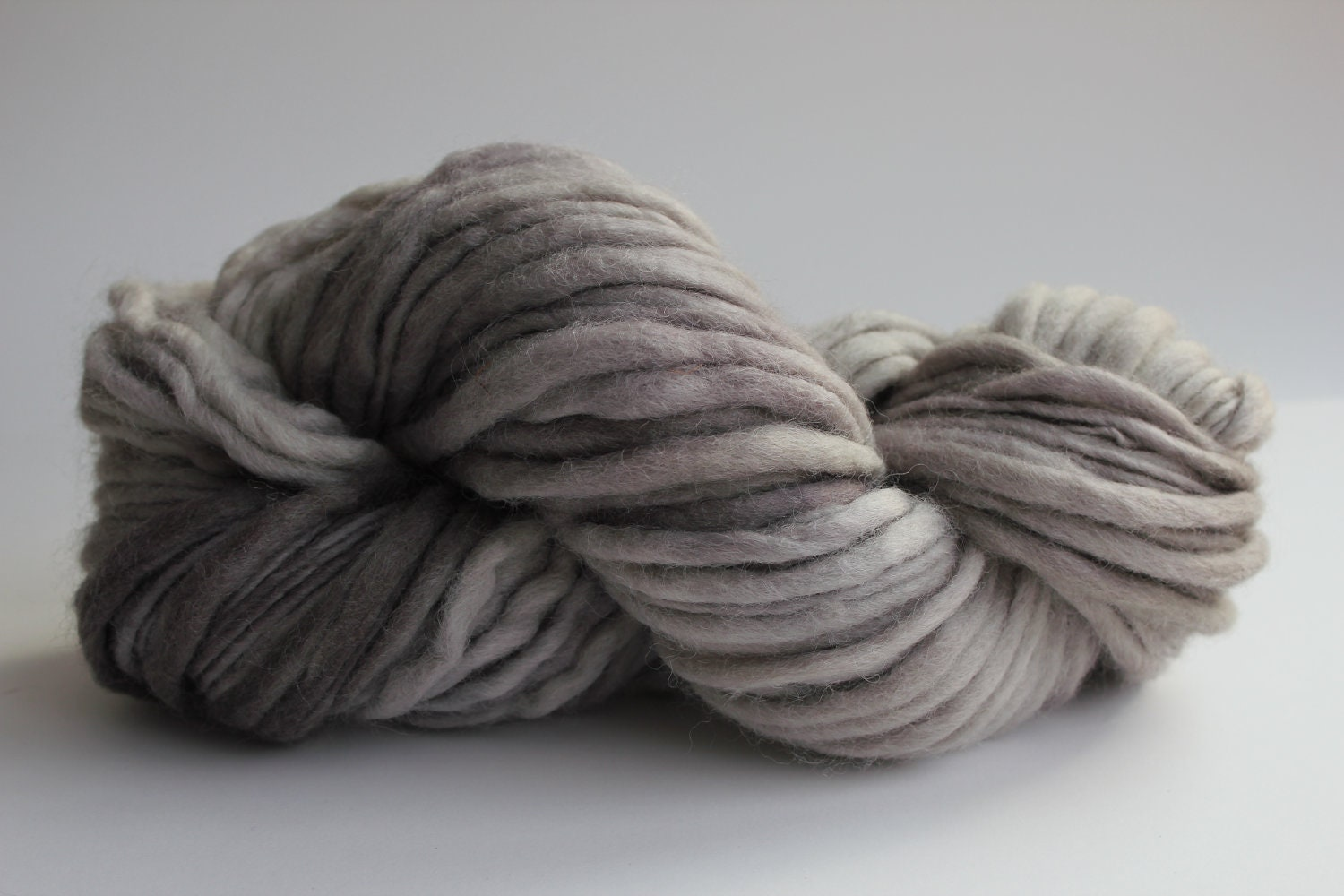 Sandstone Color Hand Spun Hand Dyed Thick and Thin Chunky Wool