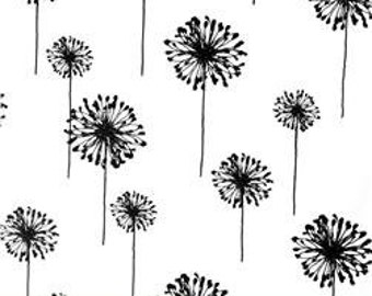Dandelion Table Runner in Black and White by Premier Prints