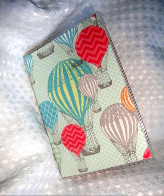 Hot Air Balloon Retro Passport Cover Vinyl Case