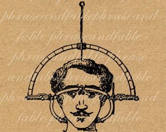 Head Examiner 125 Phrenology Brain Psychology Quack Medicine Science Mustache Hair Measure Gadget Psychiatry Digital Download