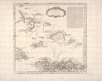 Map of Turks and Caicos From The 1600s 158 Image Digital Download Caribbean Parrot Cay Providenciales Salt Cay Grand Turk