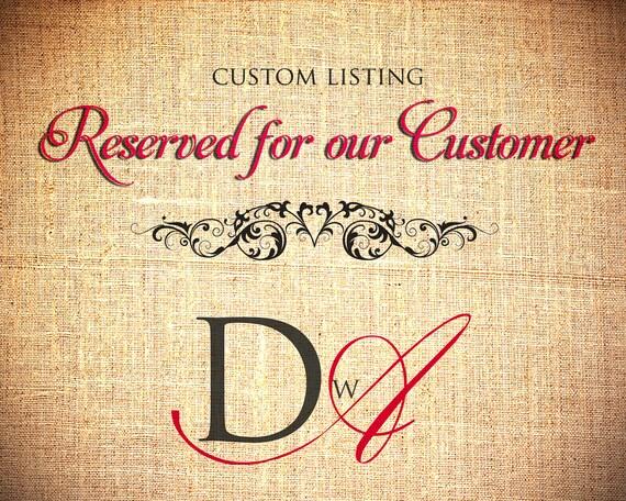 Reserved Listing for custom order (Sambucivox)