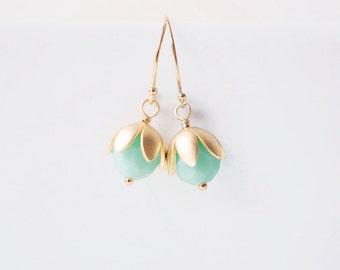 Mint Bauble Earrings