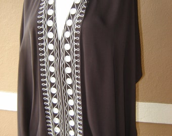 Anne Klein Vintage Cape Blouse