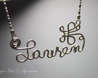 Wire art/ personalised name necklace - Lauren