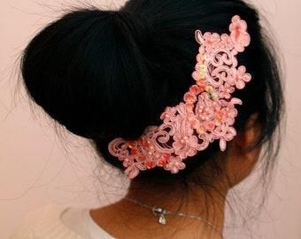 Wedding/Bridesmaid headband/head piece - Pink