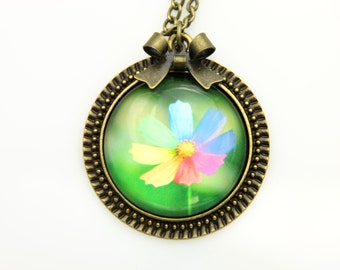Necklace flowers of 7 colors  2525C