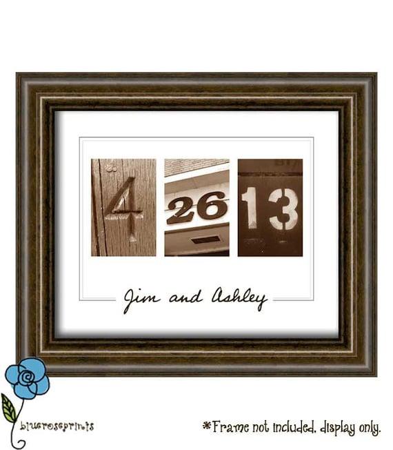 Personalized Wedding Date Printable Wall Art DIY