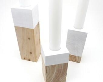 Wood Candleholders Scandinavian Home Decor Modern Home Decorations