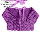 A BEST Vintage 1950s Baby Sweater Cap Booties 3 Piece Sweater Set B111 PDF Digital Crochet Pattern