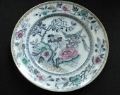 Antique Bing & Grondahl China Plate - Oriental Bird of Paradise Pattern - Hand Painted - 1800's