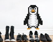 Penguin Wall Decal Puxxle - The Pixel Puzzle