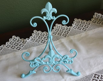 AQUA Cast Iron Fleur de lis Cookbook Holder