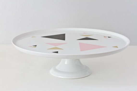 RESERVED for Ika // Geometric triangle serving platter