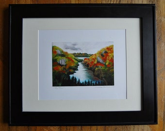 Custom framing of any of my prints or photos, a signed mini-image in a 5 x 7 frame.