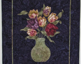 Purple and Rose Tulips