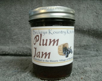 Jam and Jelly. Homemade Plum Jam, Hancrafted, Deliciously Sweet, jam & jelly