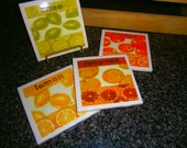 Citrus Fruits Coaster Set