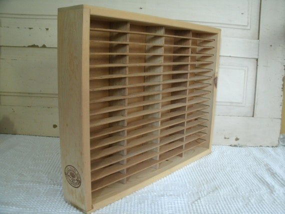 Napa Valley Box Company Cassette Storage, Storage for 64 Cassette's, Slotted Wood Box