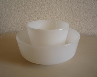 Federal Milk Glass Cup and Bowl Set