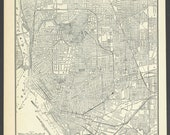 Vintage street Map Buffalo New York From 1937 Original