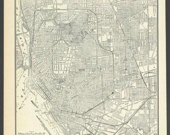 Vintage street Map Buffalo New York From 1937 Original