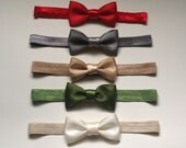 Set of 5 holiday bow headbands, hair clips, holiday hair accessories, hair bows, Christmas bows, baby headbands,