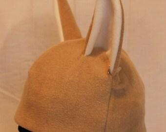 Fennec Fox Fleece Hat - NATURAL COLORS