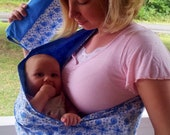 Blue Paisley Baby Sling