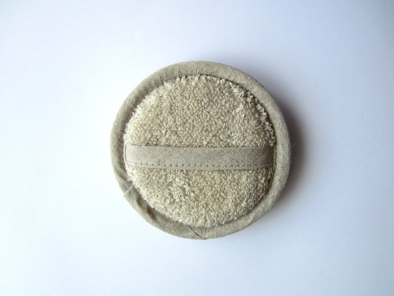 Soft cosmetic sponge, linen sponge, natural fibre, face wash, shower, skin care, eco friendly